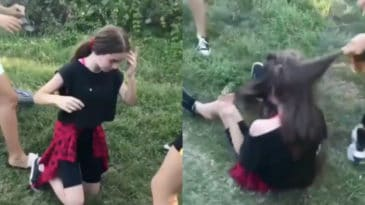 KrudPlug Mobile - SMH: 13 year old girl gets taken to the bushes and bullied in Romania